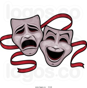 royalty-free-vector-of-a-comedy-and-tragedy-theater-drama-mask-logo-by-john-schwegel-51421